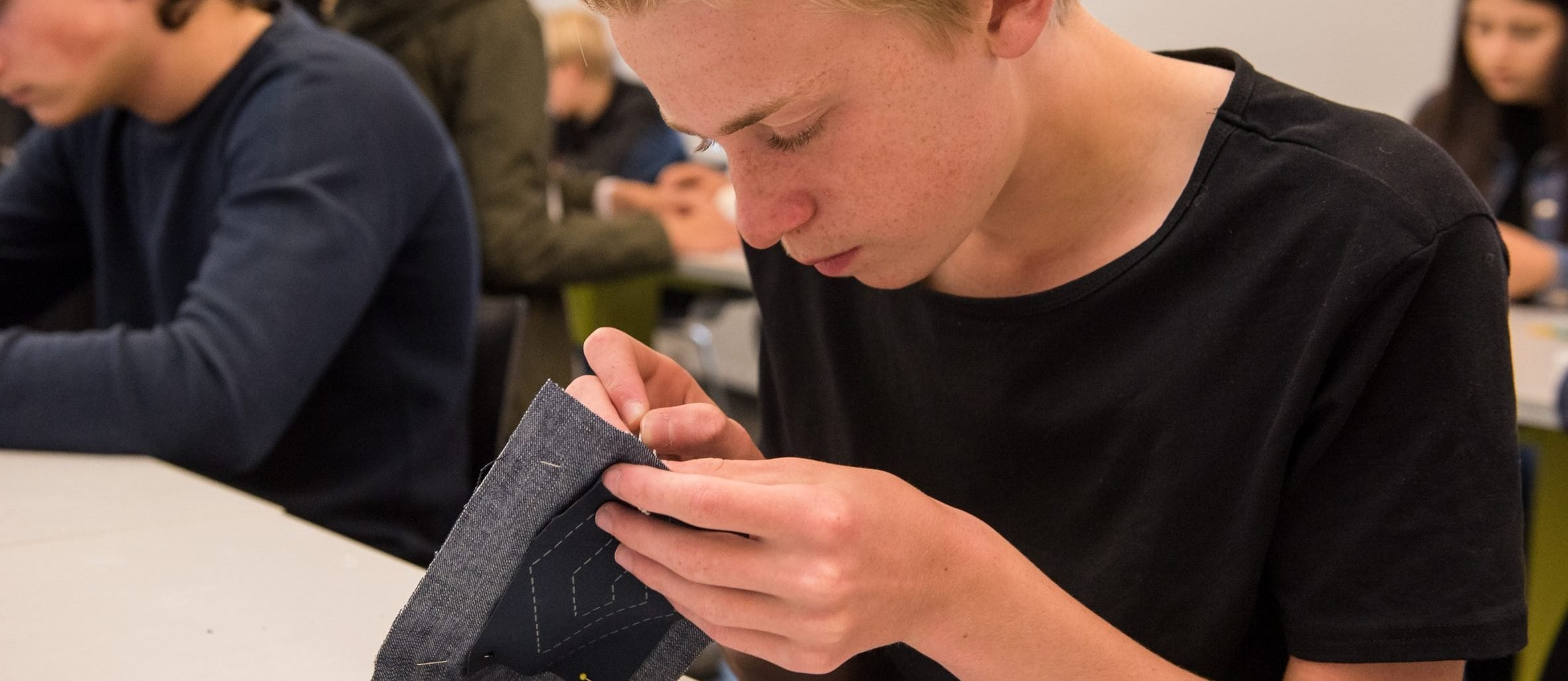 Workshop Sashiko. Foto: William van der Voort