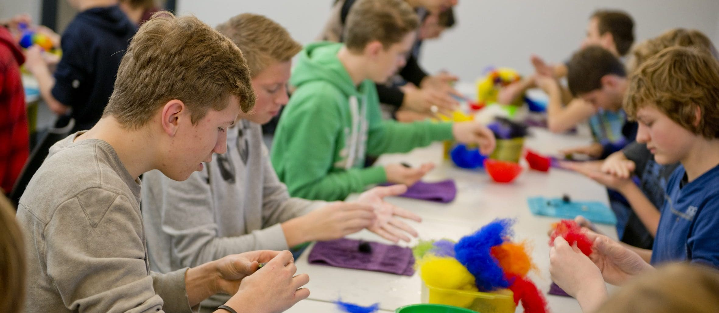 Kinderen tijdens workshop. Foto: Camiel Donders